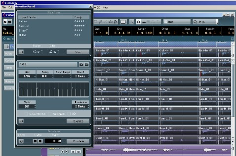 Cubase 6 presents a neat drum editing workflow.