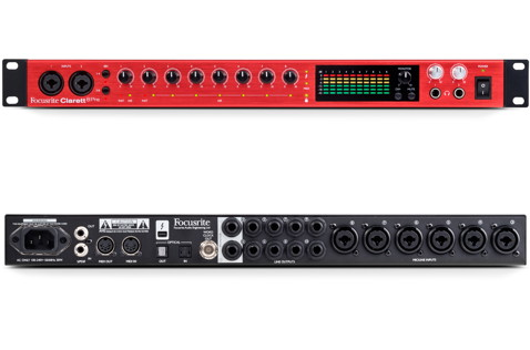 The Clarett 8Pre presents clean lines and lots of I/O.