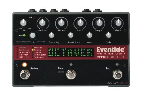 The PitchFactor's front panel combines an easy-to-read display with a lot of controls.