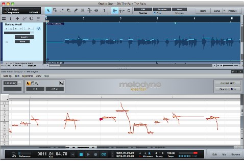 1. Melodyne integrated into the DAW seamlessly