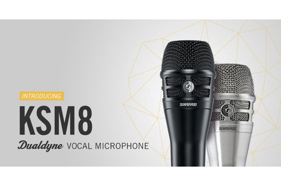 Shure is giving away a brand-new KSM8 Dualdyne dynamic mi...