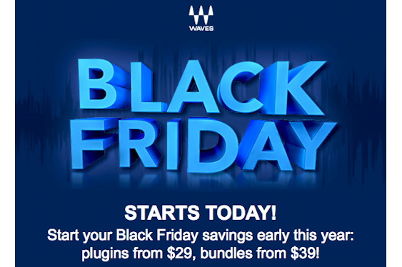 Waves has announced an early start to its Black Friday sa...